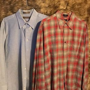 Two (2) men's dress shirts